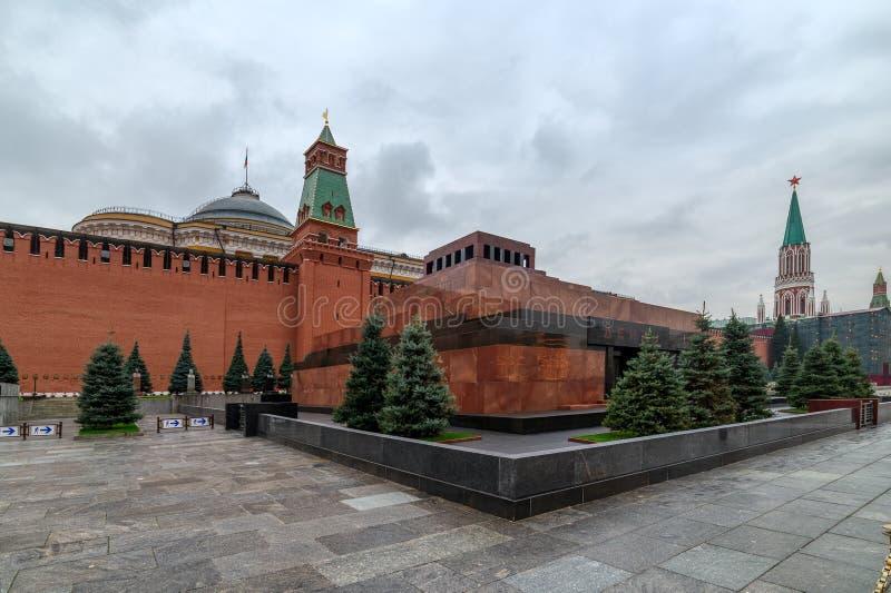 俄罗斯红场 列宁` s陵墓 图库摄影