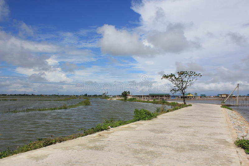 Dam Chuon, Tam Giang Lagoon, Hue, Vietnam stock image