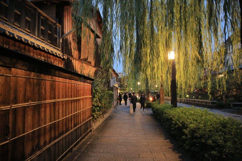 一Shirakawa-minami Dori in Kyoto, Japan royalty-vrije stock foto