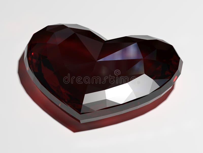 Ädelsten i form av hjärta vektor illustrationer