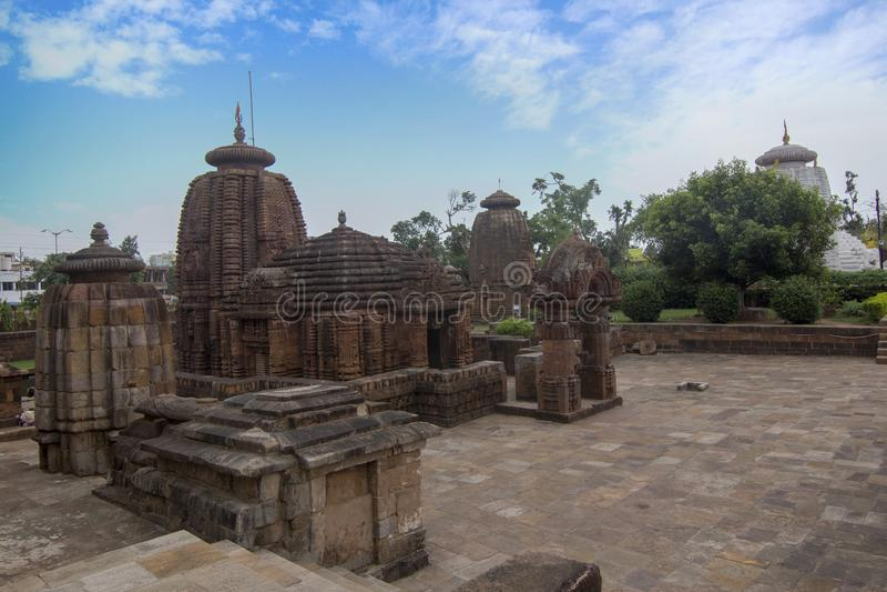 Ädelstenen av Odisha arkitektur, den Mukteshvara templet, den hinduiska templet för 10th-århundradet tilldelad till Shiva lokalis arkivbild