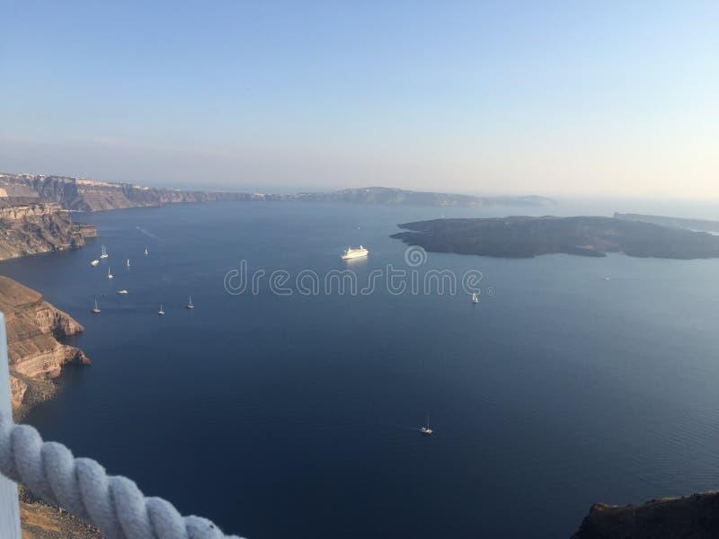 Ägäisch, Santorini lizenzfreies stockfoto