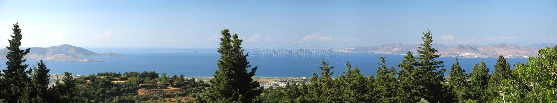 Ägäische Panorama-Ansicht stockfoto