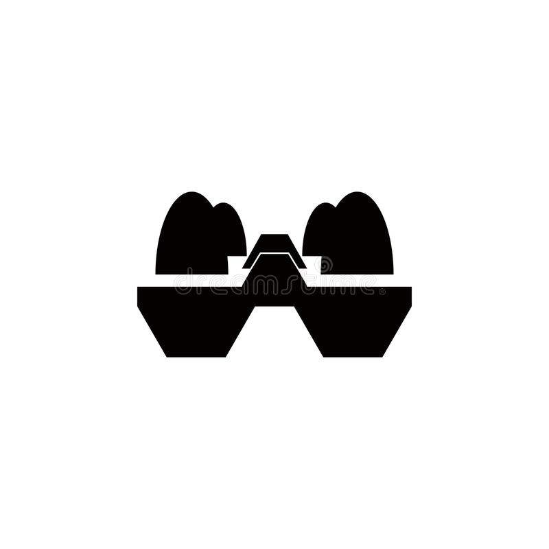ägg-ask symbol Beståndsdel av lantgården för mobila begrepps- och rengöringsdukapps Symbol för websitedesignen och utveckling, ap vektor illustrationer