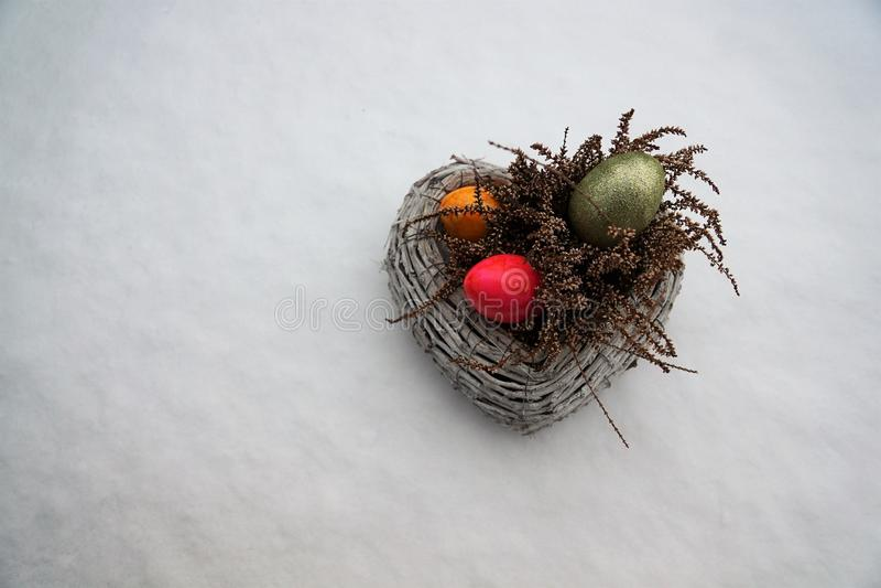 Ägg för påsk arkivfoton