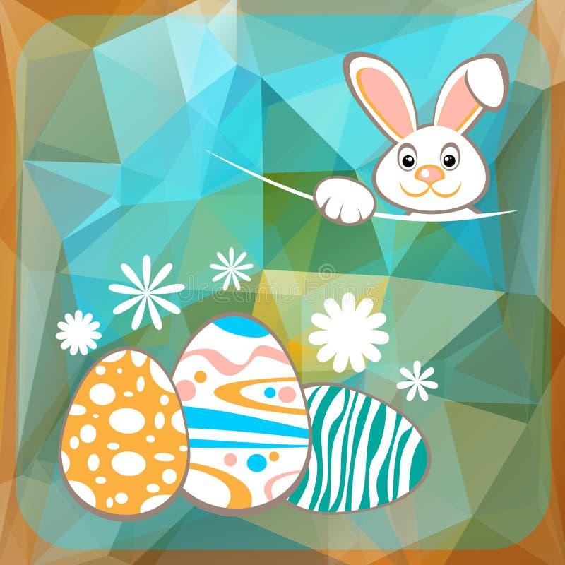 Ägg för påskkaninang vektor illustrationer