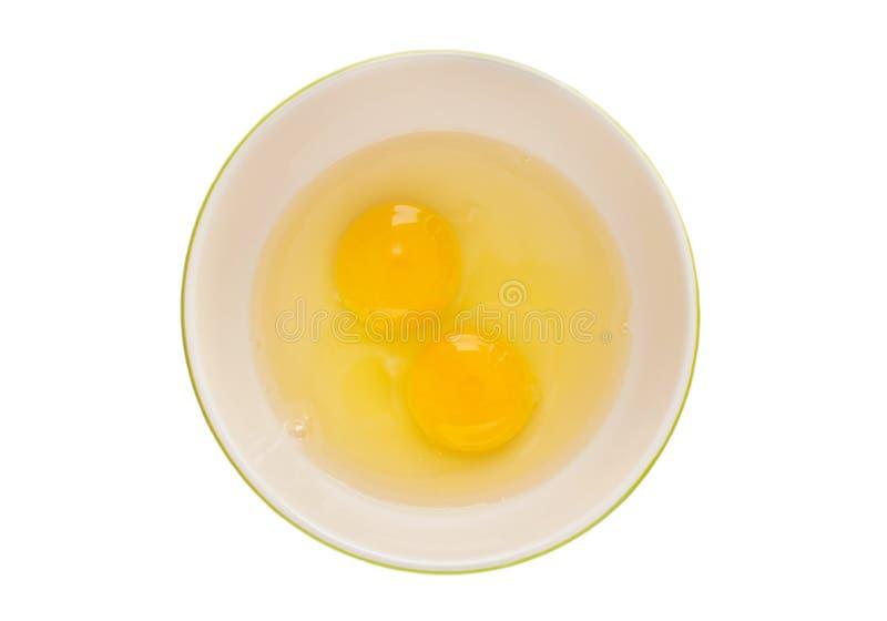 Ägg i den isolerade bunken, snabb bana royaltyfri fotografi
