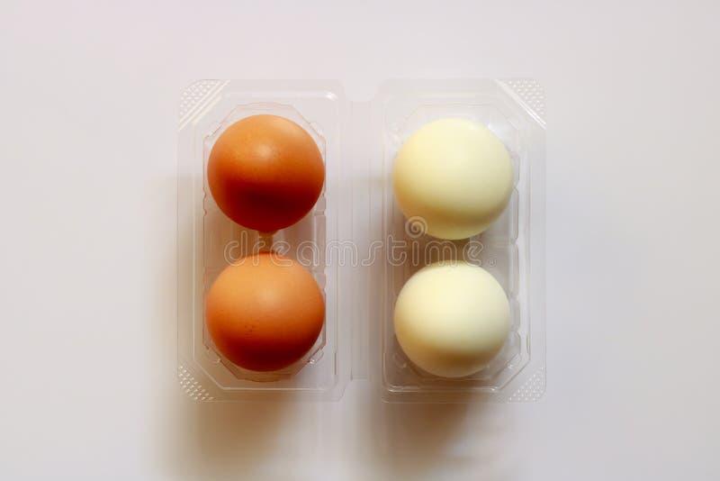 Ägg i packe royaltyfri bild