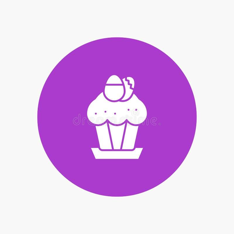 Ägg kaka, kopp, mat, påsk royaltyfri illustrationer