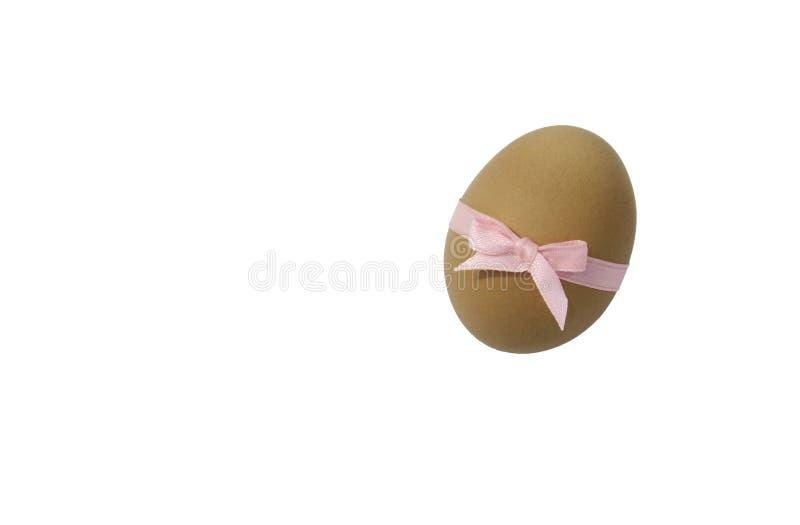 Ägg med det rosa bandet arkivbild