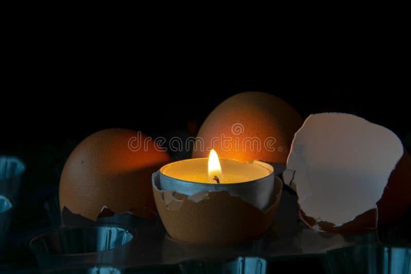 Ägg med ljus royaltyfria foton