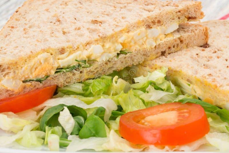 Ägg- och cresssmörgås arkivbild
