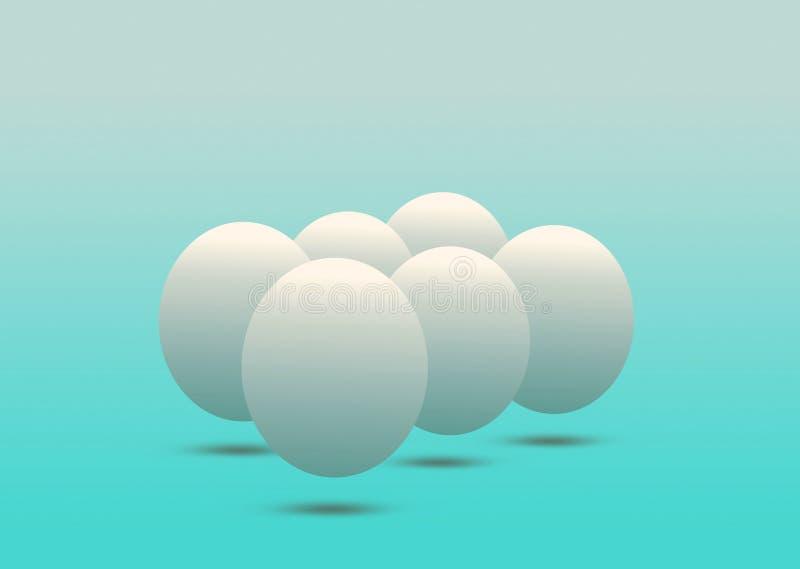 Ägg och jämvikt vektor illustrationer