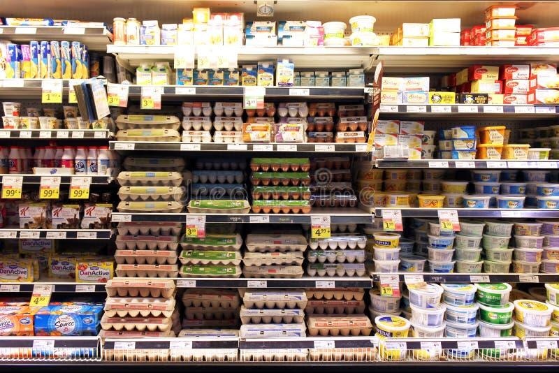 Ägg och mejeriprodukter arkivbilder