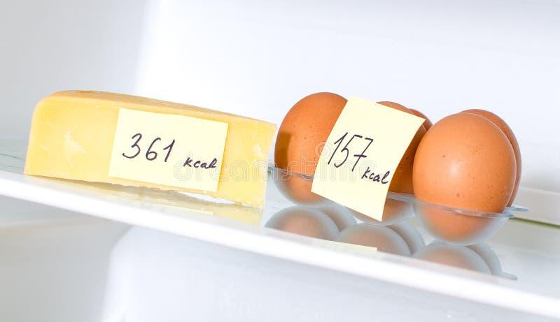 Ägg och ost royaltyfri bild