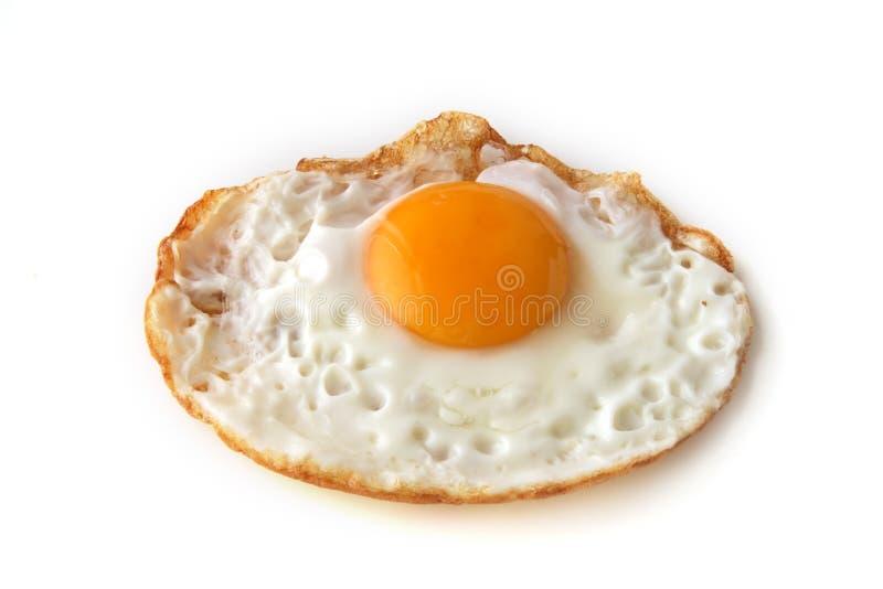 ägg som bara stekas arkivbild