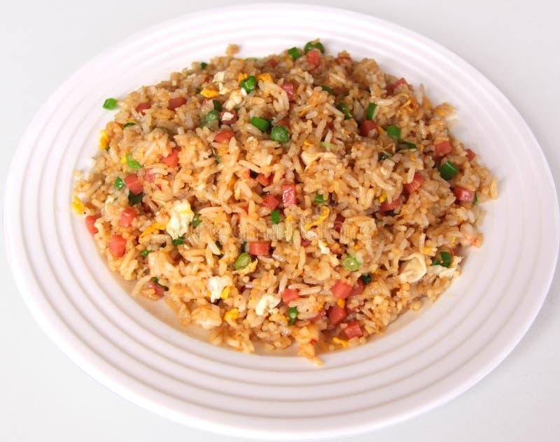 ägg stekt rice arkivfoto