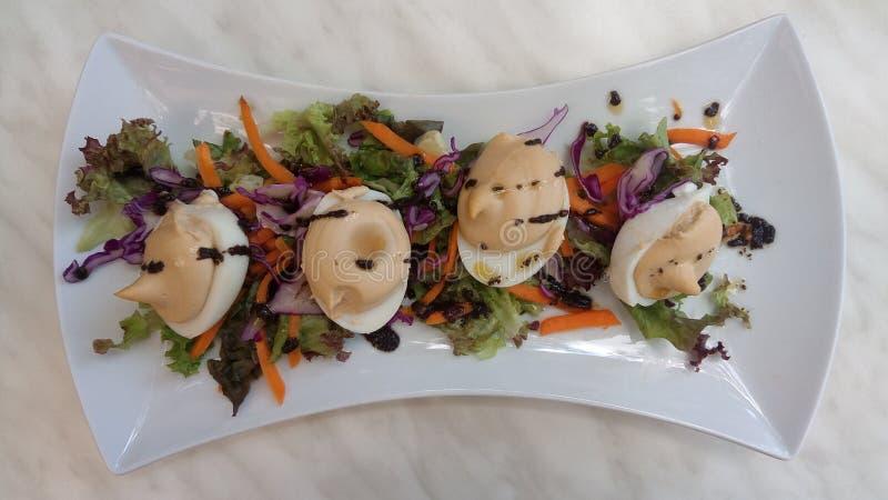 Ägg-tonfisk sallad arkivbild