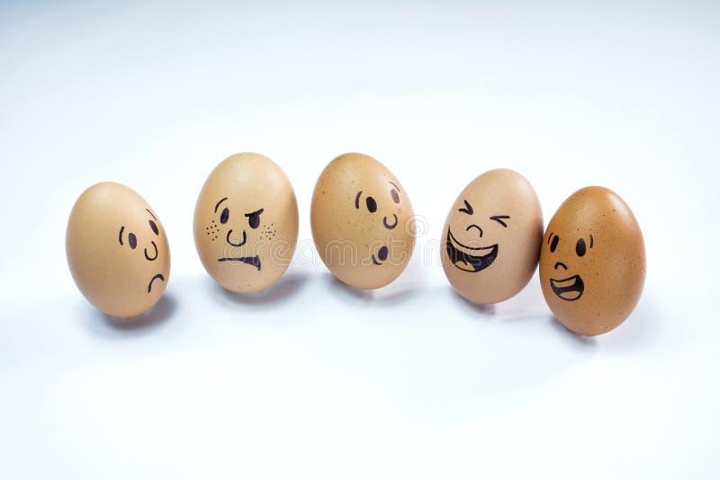 Äggframsidor med sinnesrörelser fotografering för bildbyråer