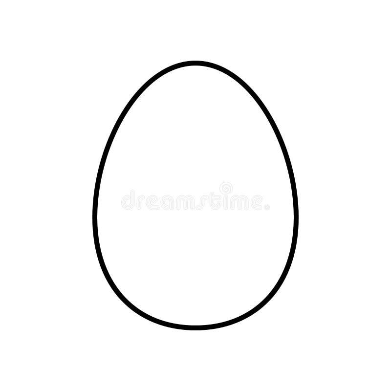 Äggvektorlinje symbol som isoleras på vit bakgrund ägglinje symbol för infographic, website eller app stock illustrationer