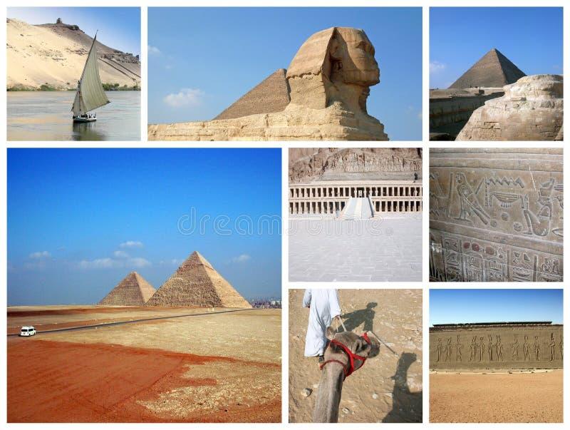 Ägypten-Collage stockbild