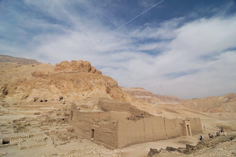 Ägypten - Deir Al-Madina stockbild
