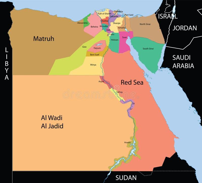 Ägypten-Karte. lizenzfreie abbildung