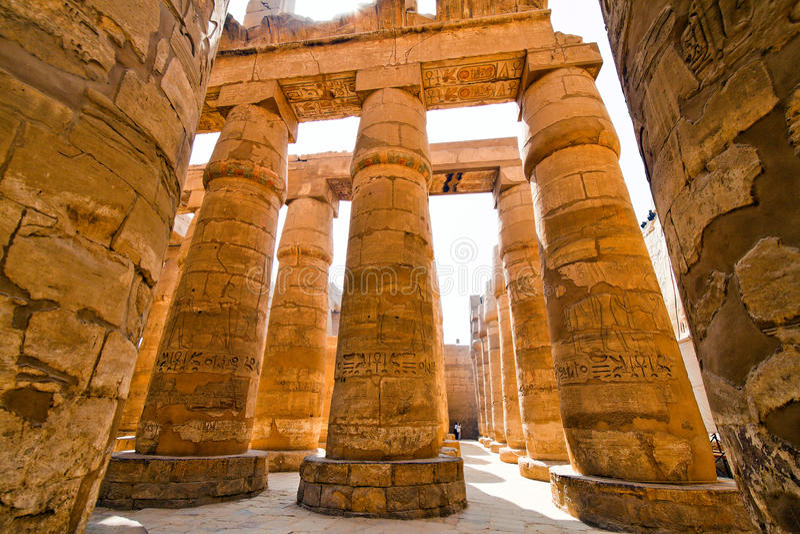 Ägypten, Luxor, Karnak Tempel lizenzfreies stockbild