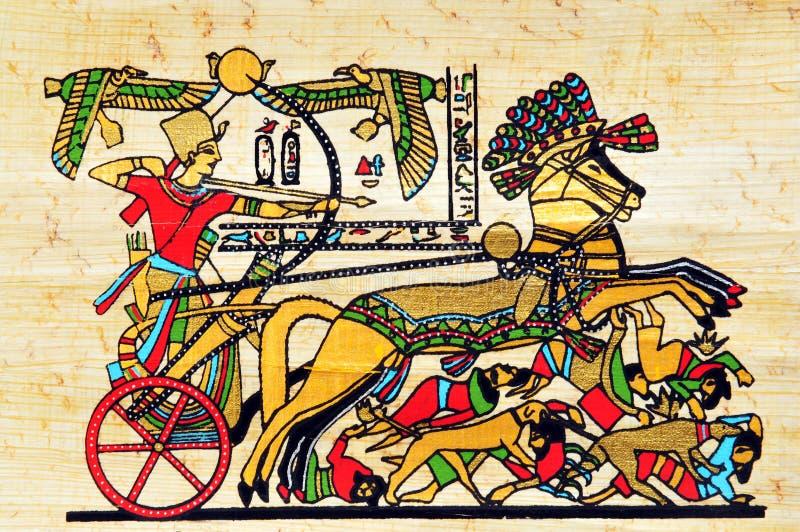 Ägypten-Papyrus stockbild