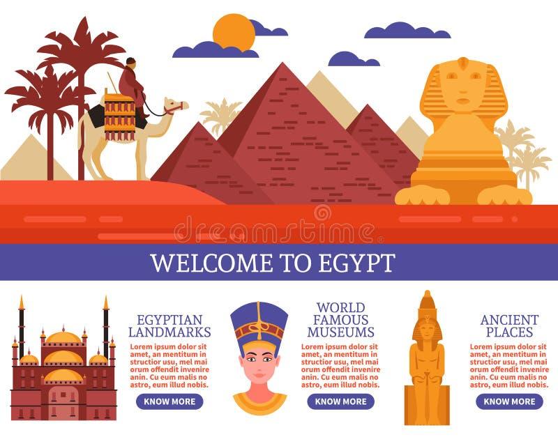Ägypten-Reise-Vektor-Illustration vektor abbildung
