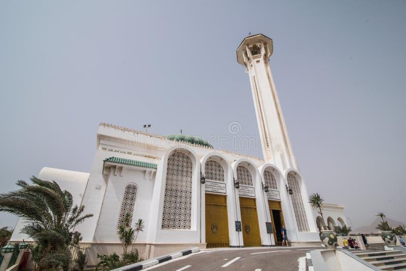 ÄGYPTEN, Sharm el Sheikh - April 2018: Mubarak Mosque, islamisch Egypt Große Moschee im Sharm-el-Sheikh lizenzfreie stockfotografie