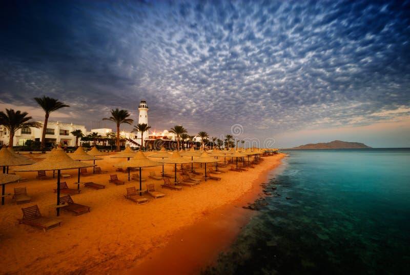 Ägypten-Sonnenuntergang stockfoto