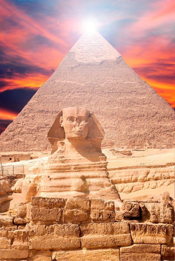 Ägypten-Sphinx-Landschaft lizenzfreie stockfotos