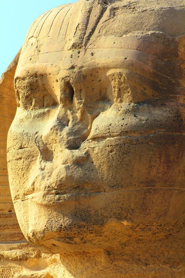 Ägypten-Sphinxgesicht stockfotografie