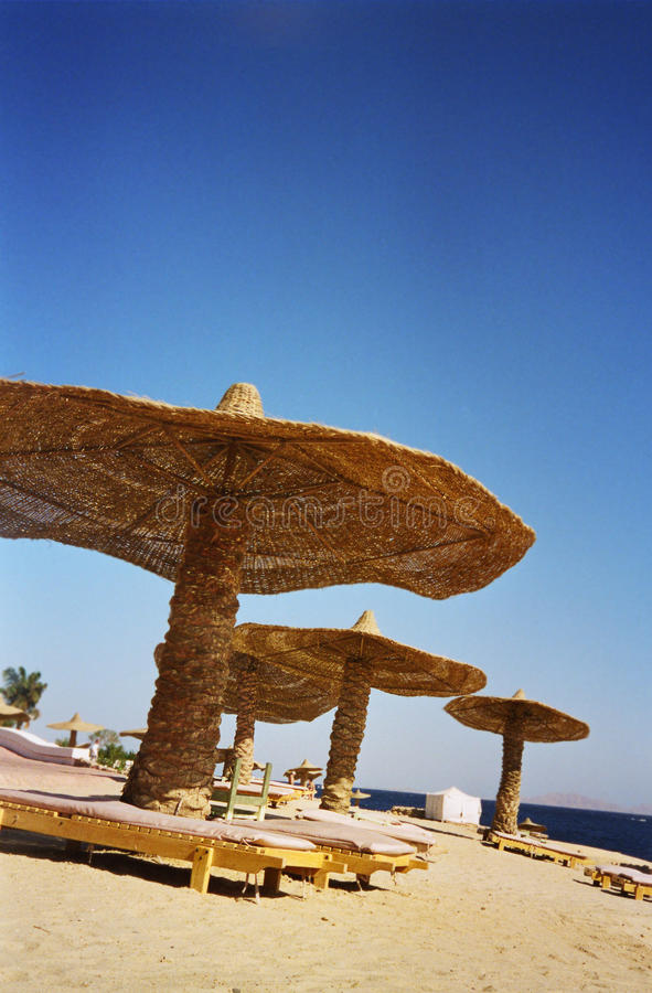 Ägypten-Strand lizenzfreies stockbild