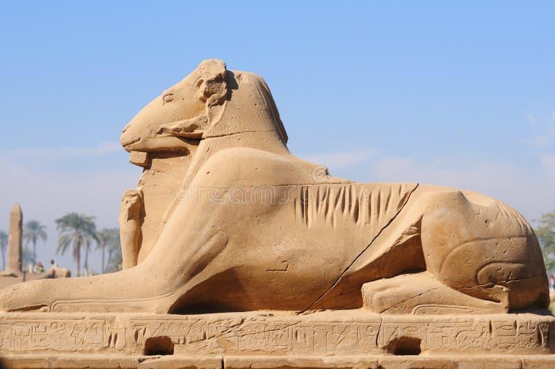 Ägypten, Tempel von Karnak stockbilder