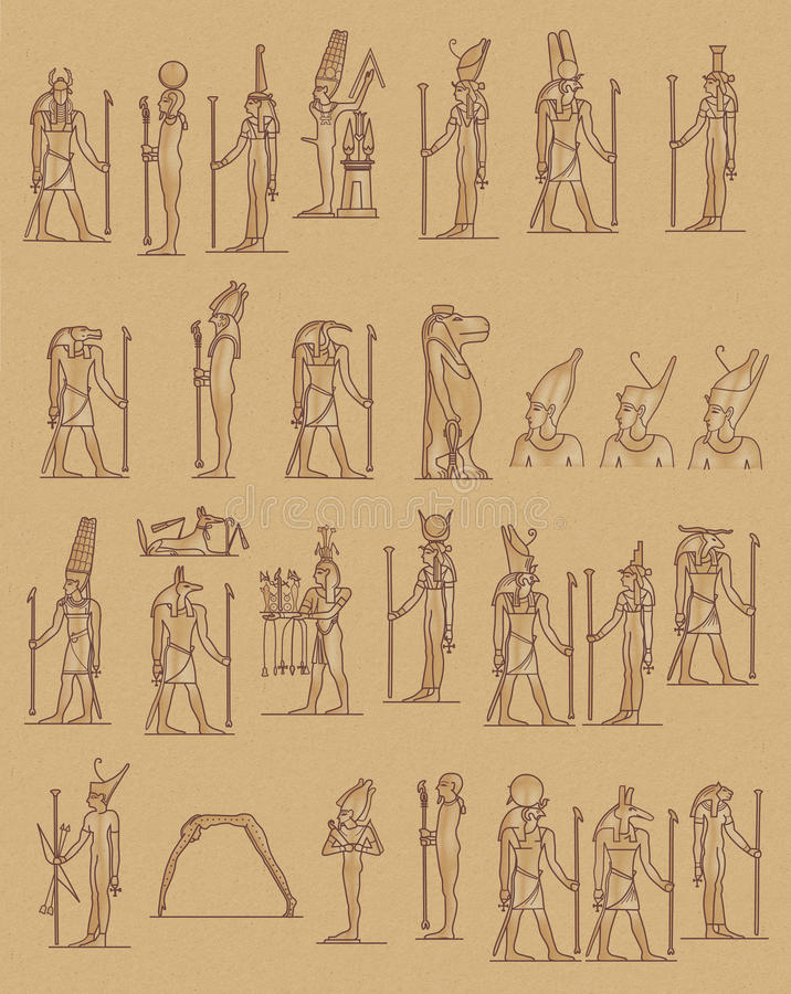 Ägypter stock abbildung
