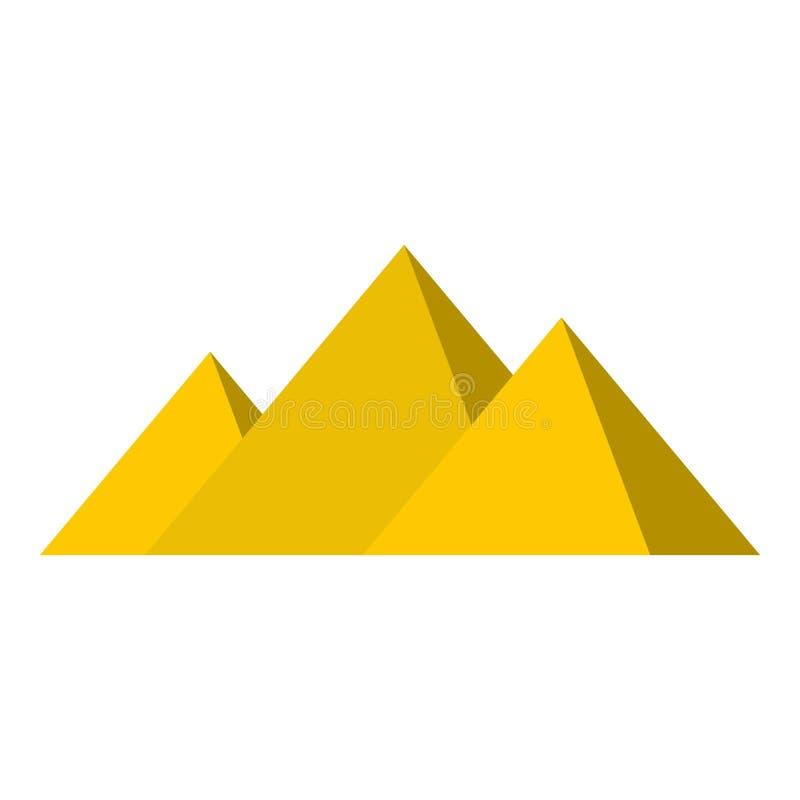 Ägypter-Giseh-Pyramidenikone lokalisiert lizenzfreie abbildung