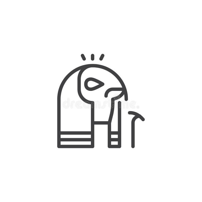 Ägypter Horus-Entwurfsikone vektor abbildung