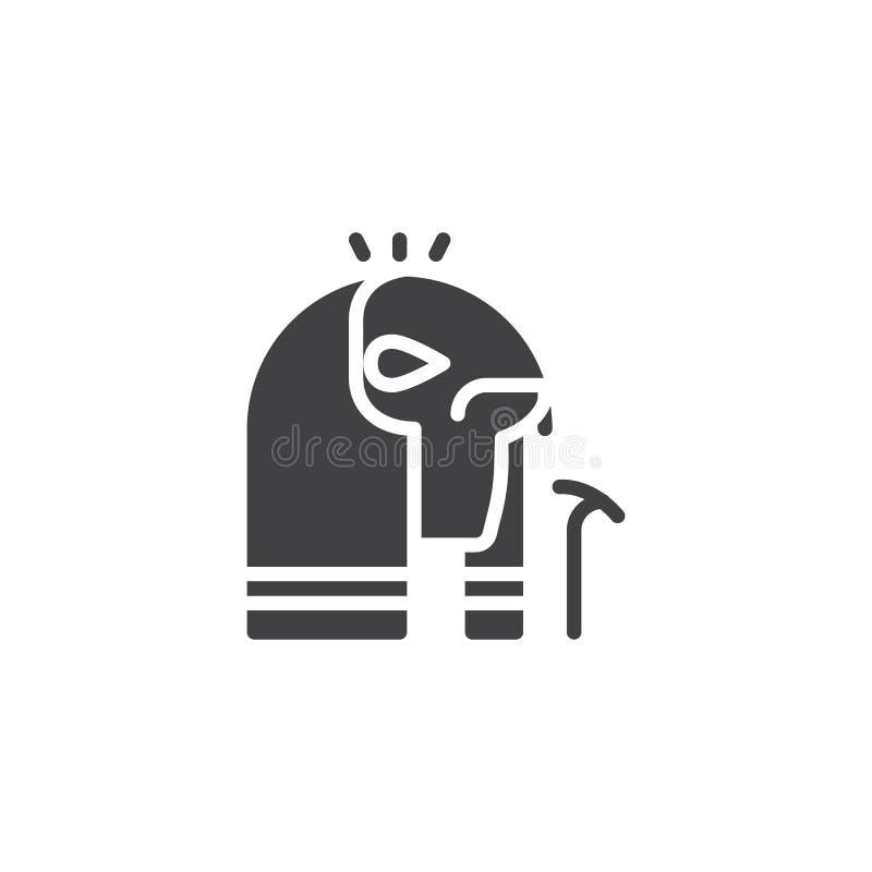 Ägypter Horus-Vektorikone vektor abbildung