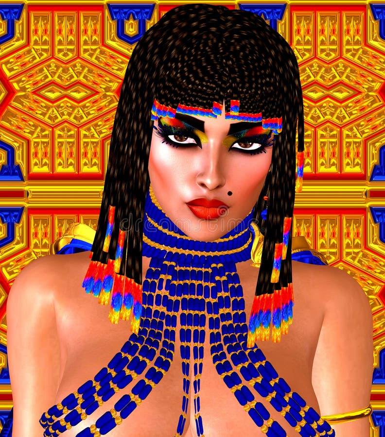 Ägypter, Kleopatra in unserer modernen digitalen Kunstart, Abschluss oben stockfoto