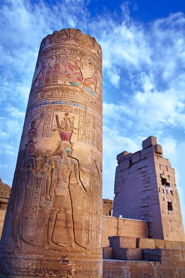 Ägyptische Bilder und Hieroglyphen lizenzfreies stockbild