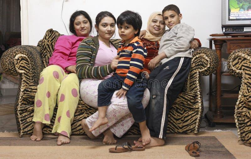 Ägyptische Familie lizenzfreie stockfotos