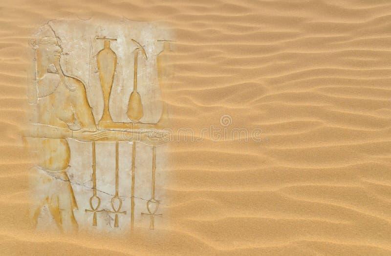 Ägyptische Hieroglyphen lizenzfreie abbildung