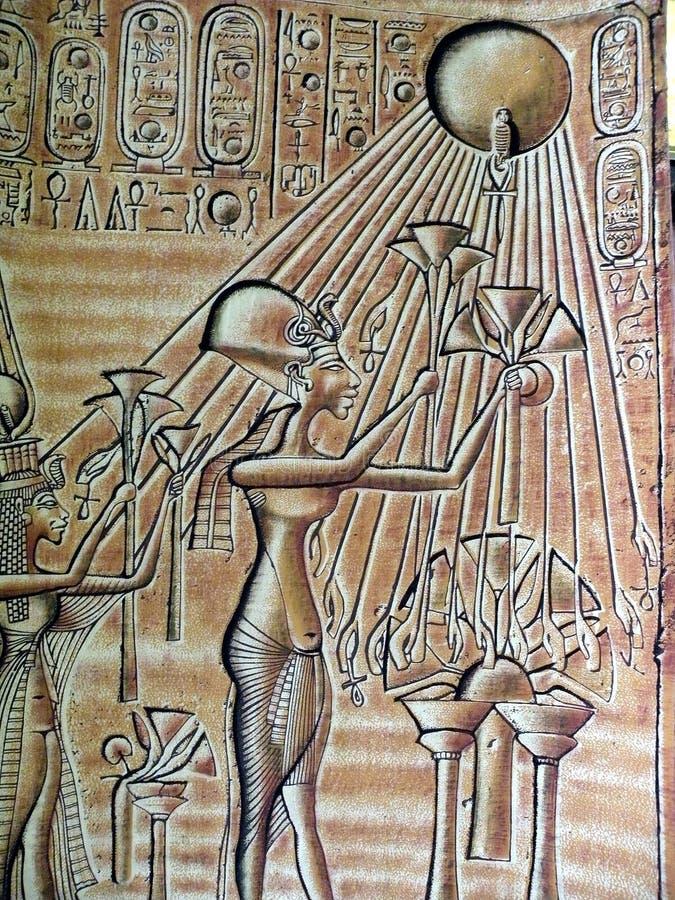 Ägyptische hieroglyps stockfoto