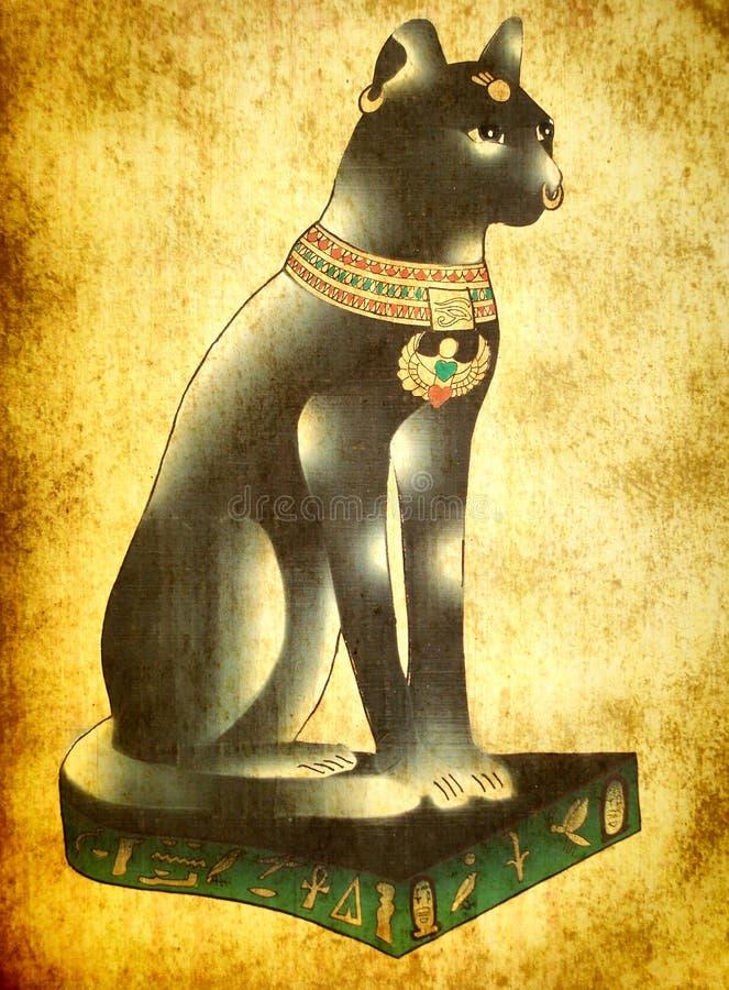 Ägyptische Katze Bastet stockfoto