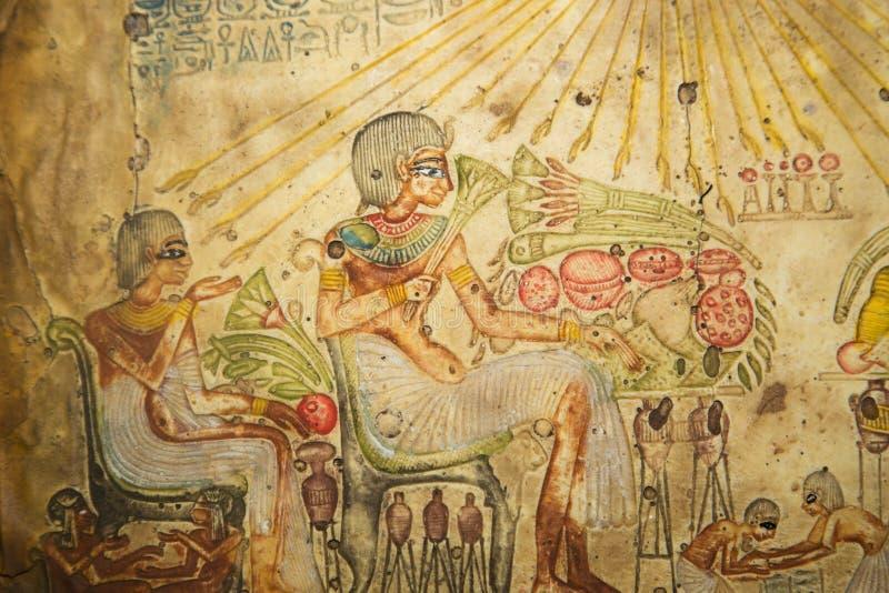 Ägyptische Kunst stockbild