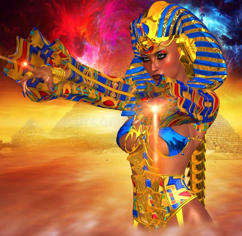 Ägyptische Magie! Diese starke Frau salbte sich Pharao von Ägypten lizenzfreie abbildung
