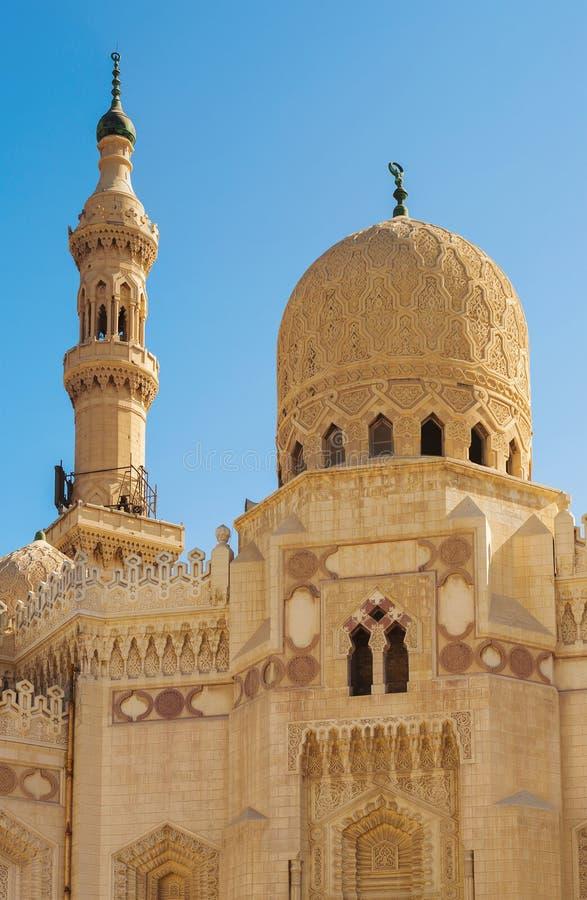 Moscheen-Haube und Minarett stockbild