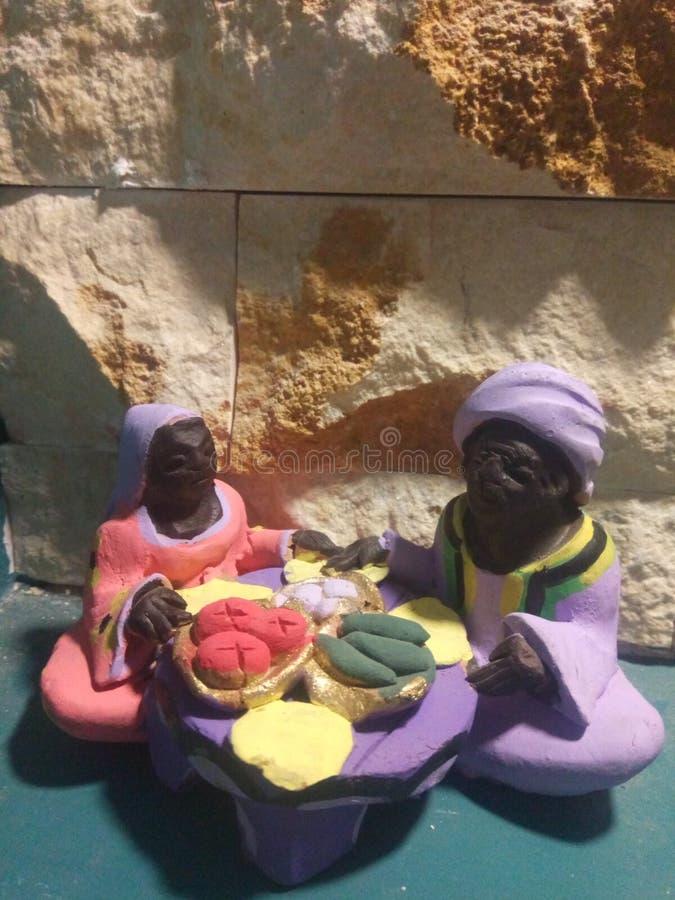 Ägyptische nubian Kunst lizenzfreies stockfoto